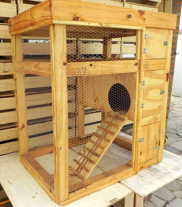 Furnishing the cage